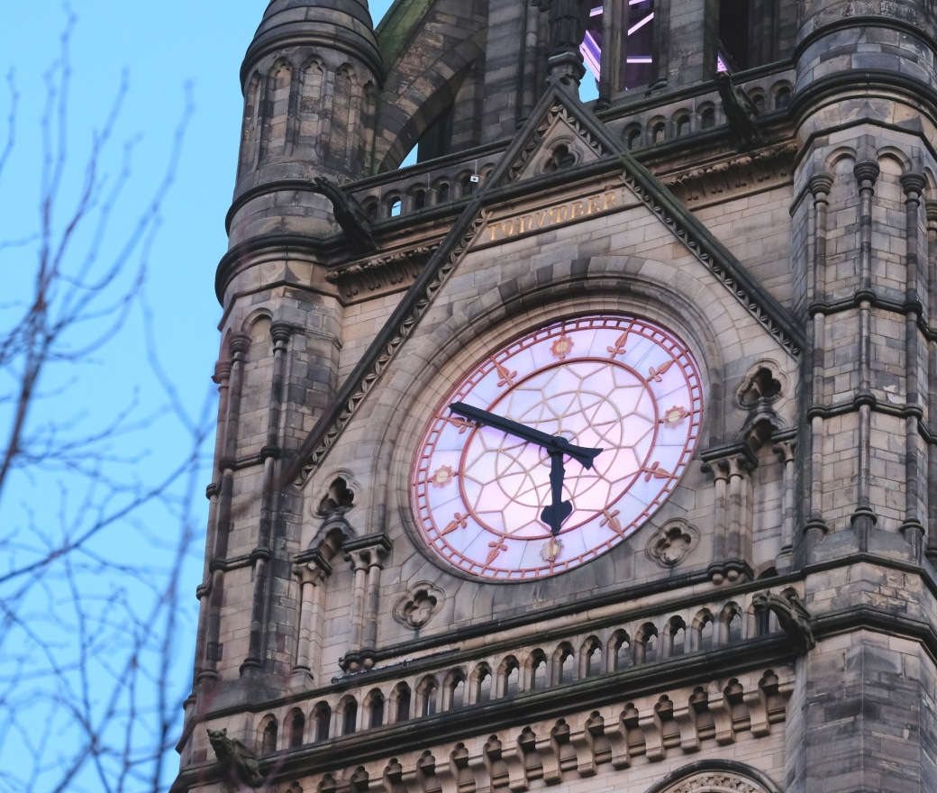 Manchester Town Hall clock